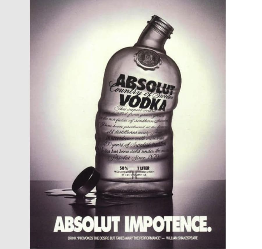 3. Водка Absolut.